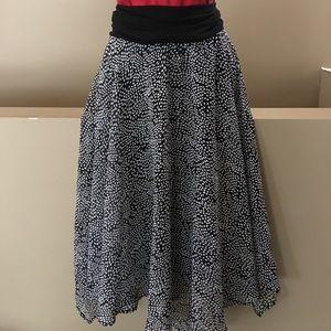 Lapis Sheer lined Halter Dress or Skirt. Large.